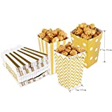 NUOLUX Popcorn Boxes Cardboard Candy Container 50pcs Gold Color