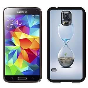 NEW Unique Custom Designed Samsung Galaxy S5 I9600 G900a G900v G900p G900t G900w Phone Case With Hourglass Earth Water_Black Phone Case