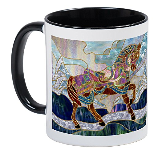 (CafePress - Armoured Carousel Horse Mug - Unique Coffee Mug, Coffee Cup )
