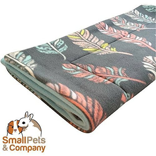 Guinea Pig Fleece Cage Liner for Midwest Habitat | Guinea Pig Bedding | Guinea Pig Fleece | Feathers