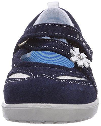 Ricosta Nadine - Bailarinas de piel para niña azul - Blau (nautic/weiss 151)