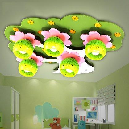 BLYC- Kreative Holzbaum Blume Gestaltung Kinder Jungen und Mädchen studieren Schlafzimmer Lampe Deckenlampe 740 * 560 * 160 mm