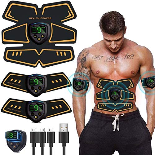 Abs Stimulator Abdominal Muscle, Muscle Stimulator, EMS ABS Trainer Body Toning Fitness, USB Rechargeable Toning Belt ABS Fit Weight Muscle Toner Workout Machine for Men & Women 1