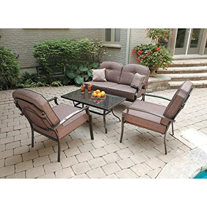 Genial Mainstays Wentworth 4 Piece Patio Conversation Set, Seats 4