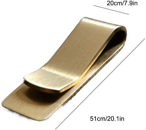 Geben Sie Ihren Freunden Verdickte Vintage Messing Geldb/örse Geldscheinklammer Ticket Inhaber Kreative Metall Geldscheinklammer Brieftasche B/üroklammer
