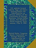 U.S. policies toward Liberia, Togo, and Zaire : hearing before the Subcommittee on African Affairs of the Committee on Foreign Relations, United ... Third Congress, first session, June 9, 1993