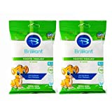 Brilliant Tooth Tissues with Xylitol - Bubble Gum Flavor Teeth Wipes for Babies and Toddlers - Kids Love Them, 60 Count