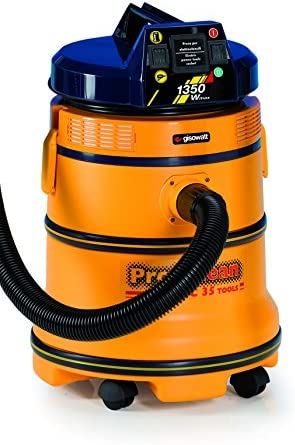 Gisowatt PC 35 Tools Aspira Tutto 35 Litri Plastic con Presa Utensili Automatica, Giallo Agua