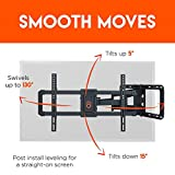 """ECHOGEAR Full Motion Articulating TV Wall Mount Bracket for 42""""-80"""" TVs - Easy to Install On 16"""", 18"""" or 24"""" Studs & Features Smooth Articulation, Swivel, Tilt - EGLF2"""