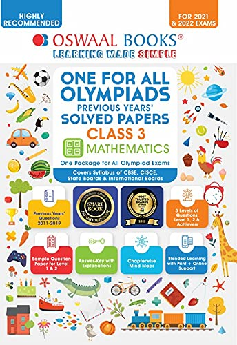 One for All Olympiad Previous Years Solved Papers, Class-3 Mathematics Book (For 2021-22 Exam)