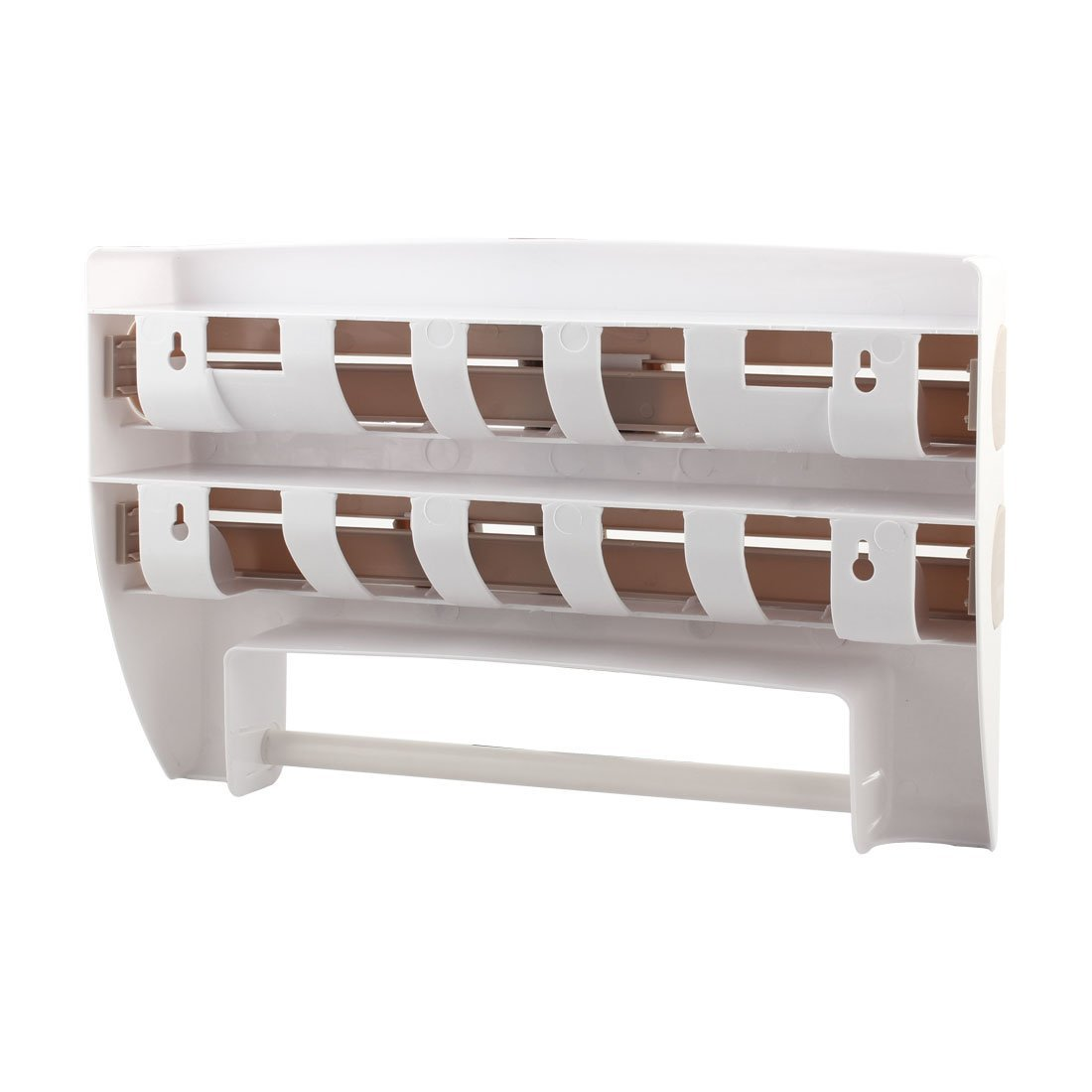 Amazon.com: eDealMax Cocina abrigo del alimento del papel de aluminio Dispensador estante de especia de montaje en pared de toallas de papel titular: ...