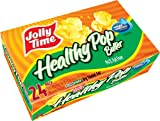 Jolly Time Healthy Pop Butter 94% Fat Free Weight Watchers Microwave Popcorn, Bulk 24-Count Box