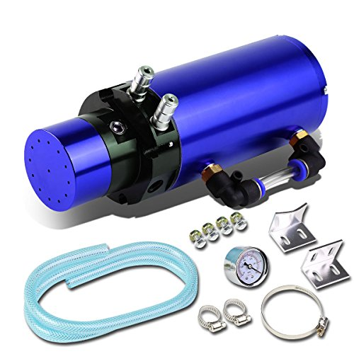 - 7 inches x 2.5 inches Anodized Aluminum Engine Oil Catch Tank/Can Universal (Blue)