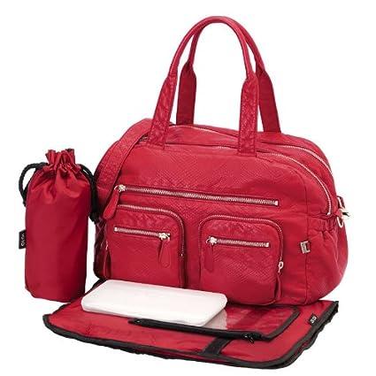 Todos los modelos de con diseño de estampado de OiOi bolsa de transporte con y cambiador