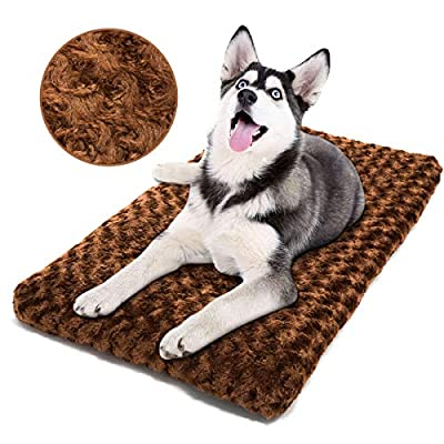 perpets Dog Bed Ultra Soft Crate Pad Home Washable Mat Dogs Cats Crate