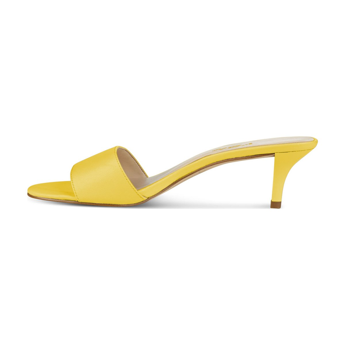 YDN YDN YDN Women Comfy Kitten Low Heel Mules Slip on Clog Sandals Open Toe Dress Pumps Slide Shoes B07BKWLYZN 9 M US|Yellow-5cm 1df17e