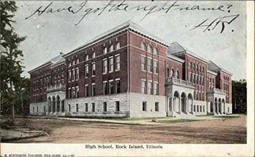 Island Postcard (High School Rock Island, Illinois Original Vintage)