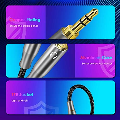 Brand:Linkerpard Speaker and Headphone 3.5 mm AUX Audio Cable Splitter,3 Pole