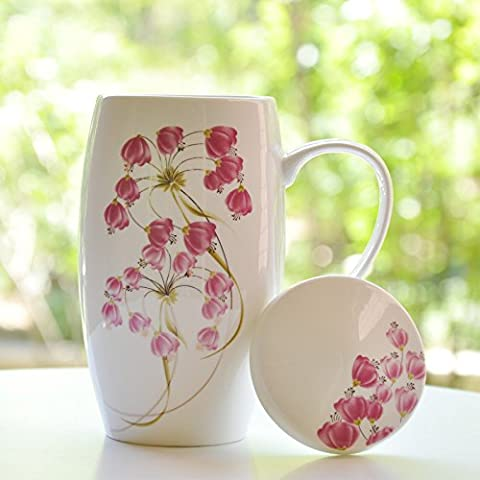 MH-RITA China Cup Ceramic Bulk Mug With Cover Glass Ceramic Creative Couple Simple Office Girl I