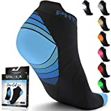 Compression Running Socks for Men & Women - Best Low Cut No Show Athletic Socks for Stamina Circulation & Recovery