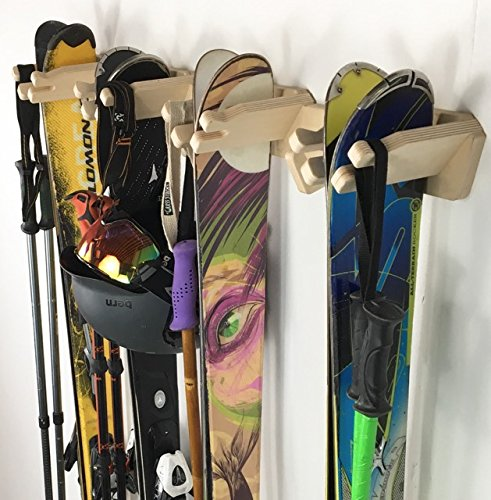 Pro Board Racks Vertical Ski Storage Rack (Holds 4 Sets Skis)