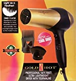 GOLD 'N HOT PROFESSIONAL 1875W LIGHT WEIGHT IONIC DRYER WITH...