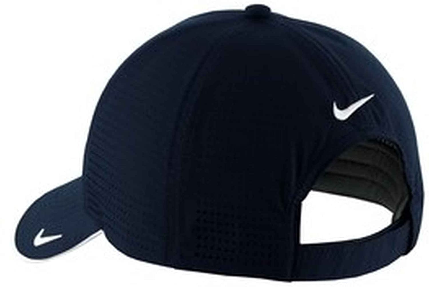 Nike Unisex Dri-FIT Polyester Low Profile Swoosh Embroidered Perforated Baseball  Cap (Navy d029be76386