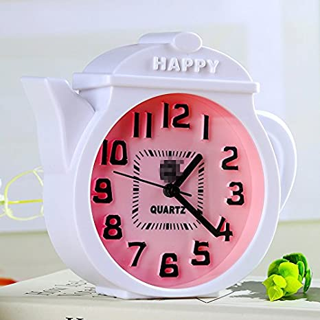 YOIL 1 PC Decoración casera Lovely Tetera Alarm Clock ...