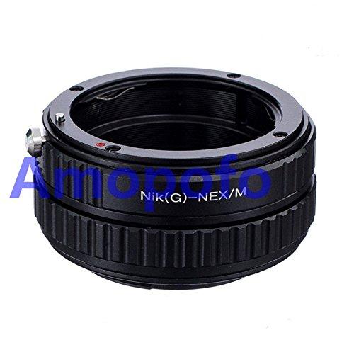 Nikon G-NEX/M macro focusing helicoid Nikon G/AI/AIS/D Lens To Sony NEX-5T NEX-3N NEX-6 NEX-5R NEX-F3 NEX-7 Camera -  AMOPOFO, Nikon G-NEX/M Lens Adapter