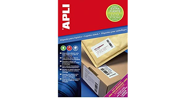 Amazon.com : APLI 011785 400 Extra-Strong Adhesive Labels ...
