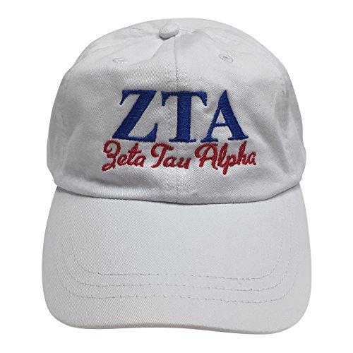 zeta-tau-alpha-zta-s-white-hat-with-blue-red-thread-baseball-hat