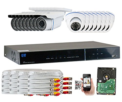 GW Security 1440P AHD16CH Camera System - 16 x 4.0MP 3.6mm Lens Outoodr Indoor Cameras