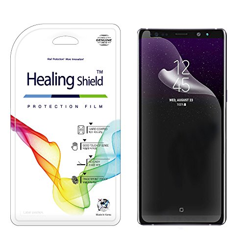 Shield Glossy (for Galaxy Note 8 Screen Protector, [1 + 1 Pack], Healing Shield CurvedFit Hybrid Glossy (Clear) [CASE-Friendly] 1-Pack Front & 1-Pack Matte Back Full Cover Protector for Galaxy Note 8)