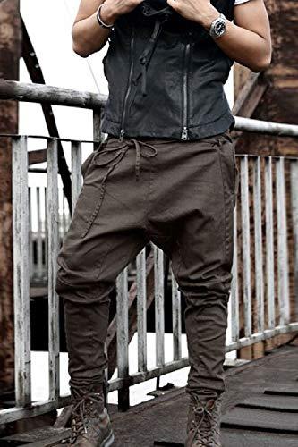 Solides Zilcremo Pleine Les Bonjour Vrac Longueur Skinny En Brown Pantalons EvvwZ