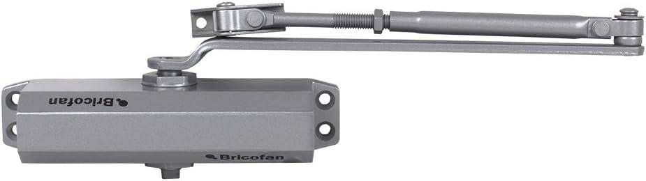 60-85 kg Plata Cofan 31300121 Cierrapuertas sin retenci/ón