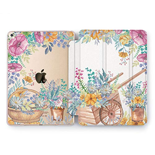 Rose Purple Florist (Wonder Wild Flower Pushcart iPad Cover Pro 9.7 inch Nature Mini 1 2 3 4 Sweet Print Air 2 10.5 12.9 Apple Smart Painted Case Plastic Stand 5th 6th Generation Girly Design 2017 2018 Colorful Cute)