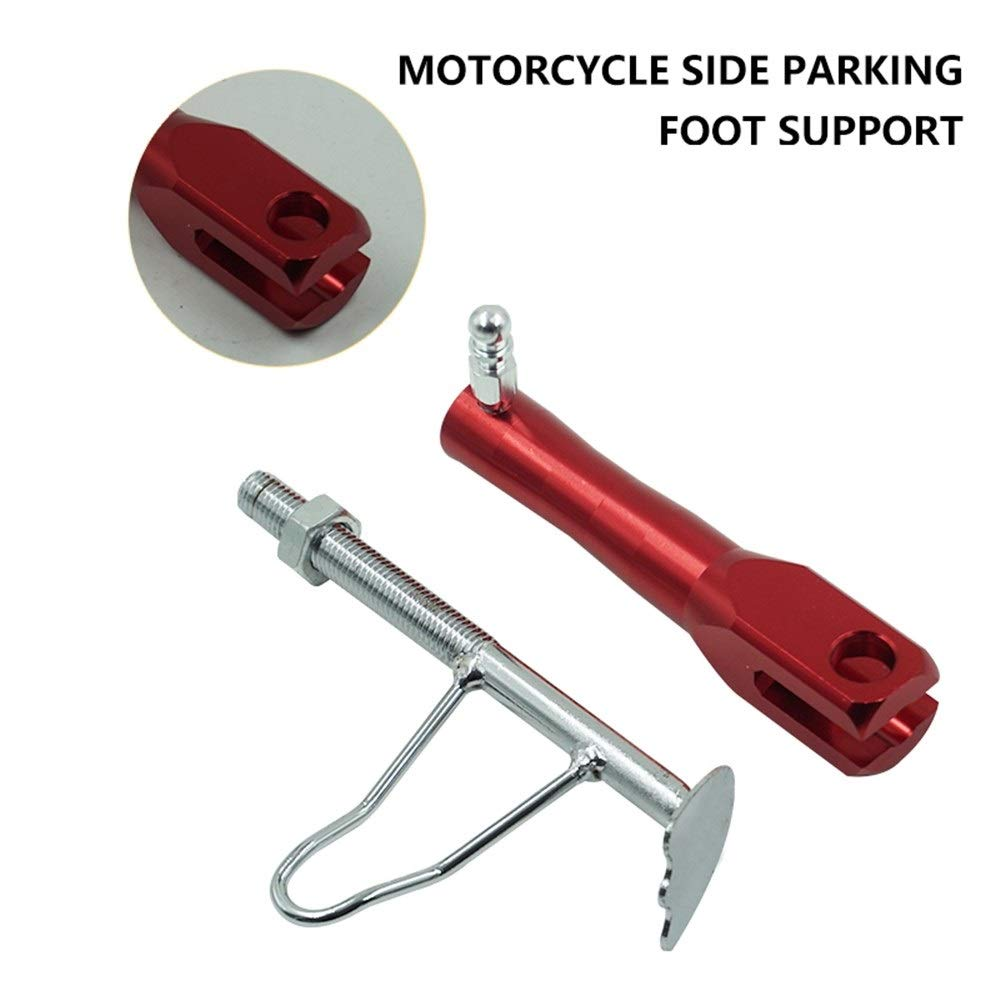 SHENTIANWEI Universal Motorcycle Side Kickstand Scooter Parking Racks Modified Support Foot For Yamaha Honda Suzuki Color : Black