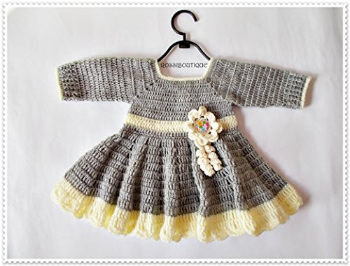 Buy hand crochet baby dresses - 1
