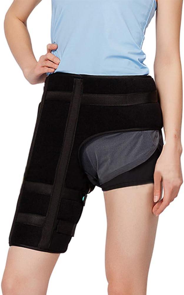 Gtagain Soporte Muslo Apoyo Ajustable - Mujer Hombre Cadera Ortesis Lesiones Estabilizador Recuperación Para Alivio Tensión Ciático Nervio Dolor
