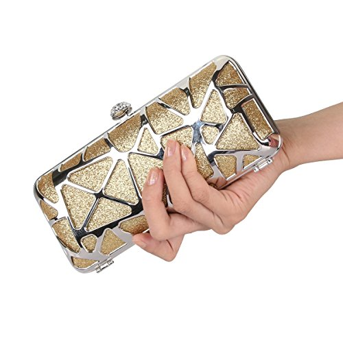 Leaf Bag Clutch MASEE Sequin Seed Clutch Handbag Antique Evening Exquisite Soft Bead Seed Collection Gift Floral Sequined Ideas VENI Colors Evening Bead MetallGold Various Z8vqv