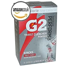 G2 Powder Packs Drinks Low Calorie Electrolyte Beverage Mix, FRUIT PUNCH Flavor 8 Packets (Pack of 3)