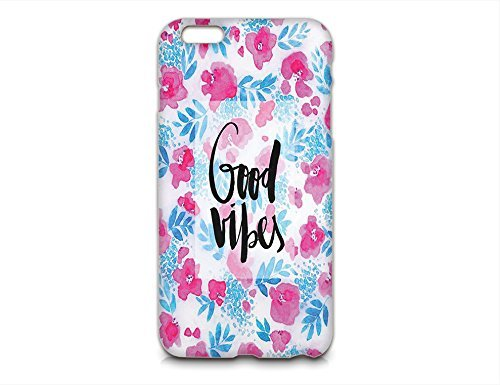 Birdbibishop- Good Vibes Hard Plastic Cover Phone Case for Iphone 6plus Hot Trend Design Pattern