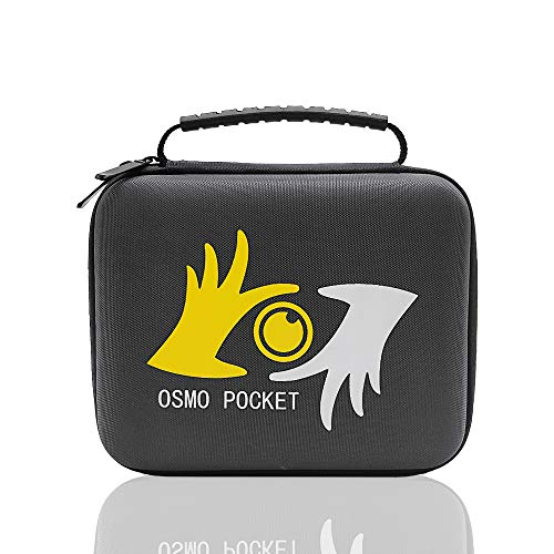 - Osmo Pocket Portable Carrying Case Compatible with DJI Handheld Gimbal Camera Storage Medium Box and Expansion Accessories kit Including Controller Wheel, Wireless Module Hand Bag (Case Only)