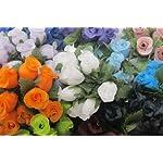 144-Tiny-Decorative-Rose-Buds-12-Craft-Flowers-Assorted-Colors-Wedding-Bridal-Shower-Favor-Decorations