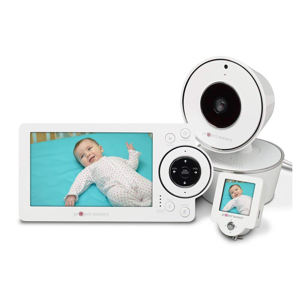 Project Nursery 5'' High Definition Baby Monitor System with 1.5'' Mini Monitor - White