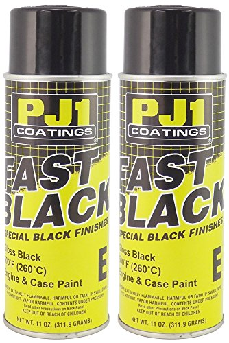 Pj1 Paint (PJ1 16-ENG-2PK Gloss Black Engine Spray Paint, 22 oz, 2 Pack)