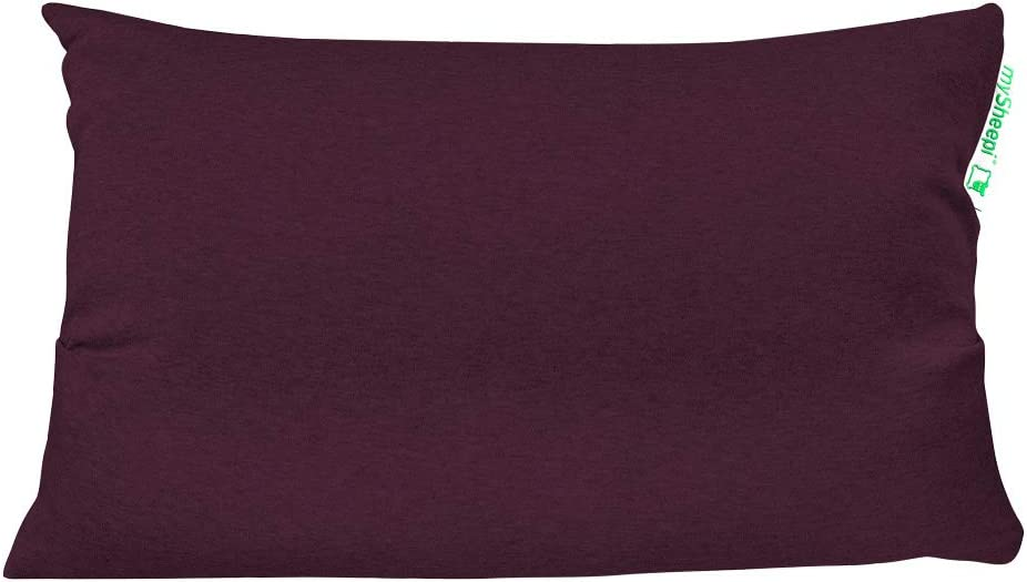 Kopfkissen-Bezug Aus 100/% Bio-Baumwolle F/ür Nackenst/ützkissen 50 x 30 cm Beige mySheepi Kissenbezug Home