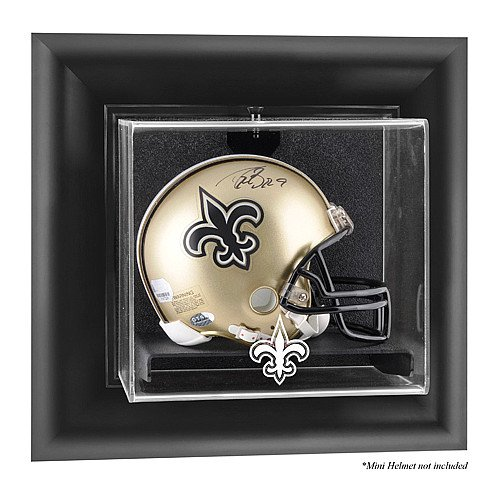 Mounted Memories New Orleans Saints Wall Mounted Mini Helmet Display Case - New Orleans Saints One -