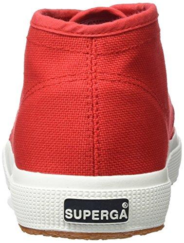 Superga 2754 Cotu, Zapatillas Altas Unisex Adulto Rot (Red-White)