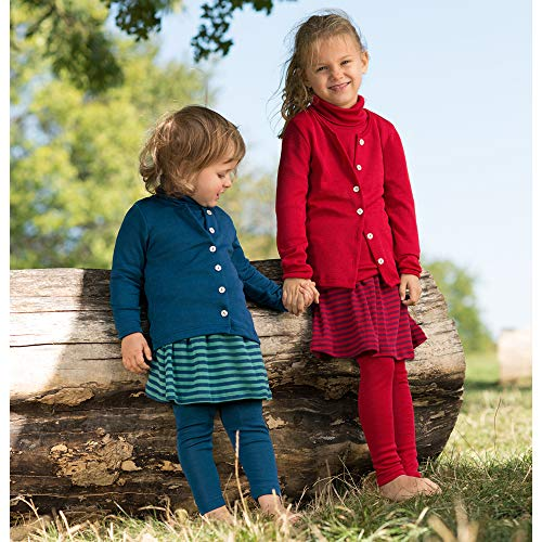 Kids Thermal Underwear: Leggings Pants Base Layer, Organic Merino Wool and Silk (EU-116   4-6 years, Grey) by EcoAble Apparel (Image #3)